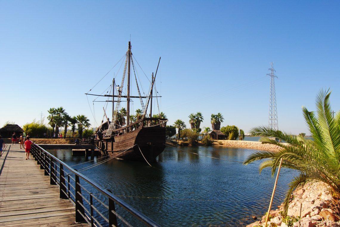 Das Schiff von Christoph Kolumbus in See, Huelva