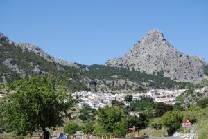 Blick auf das Bergdorf Grazalema