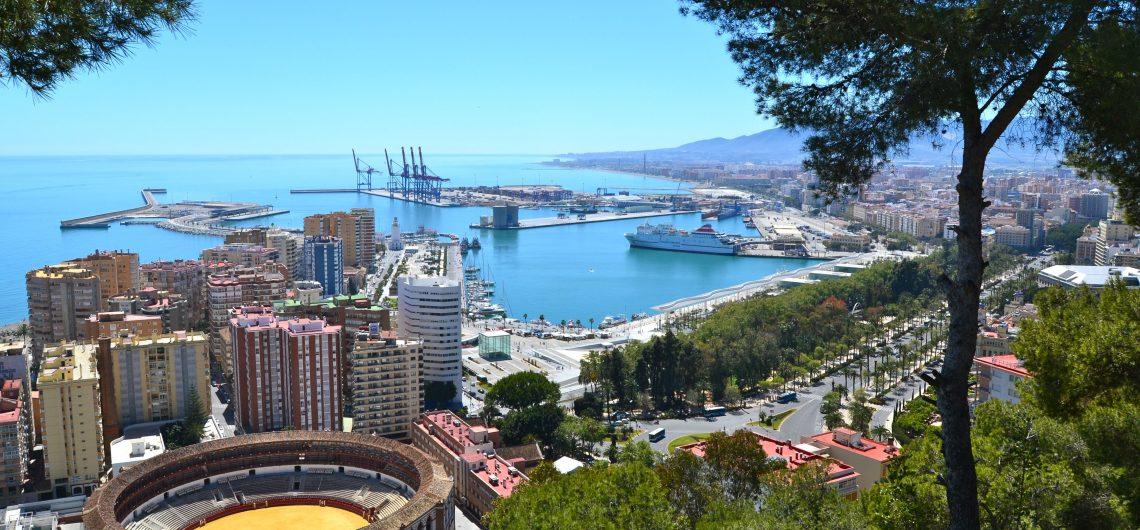 Blick auf Malaga von der Burg aus